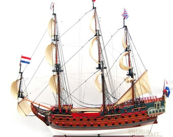 "Zeven Provincien 28"" Handcrafted  Dutch Historic Ship Model"