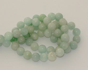 5 pearls green amazonites clear 12mm - Ref: PA 600