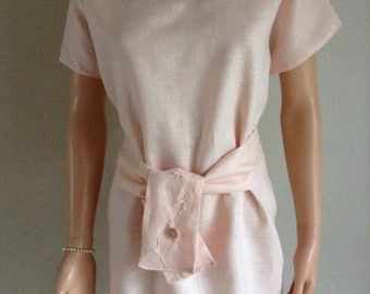 Nude 50/48/46/44.../34 linen tunic dress