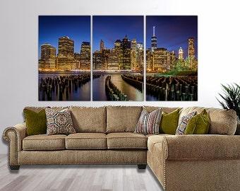 New York Skyline Canvas Art, Large Wall Art Canvas, New York Skyline, New York City, New York Art, New York Print, New York Poster