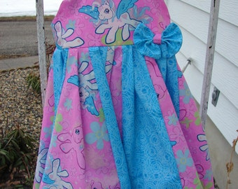 Custom Boutique Twirl Dress Designed with my little pony Fabric 2-6X