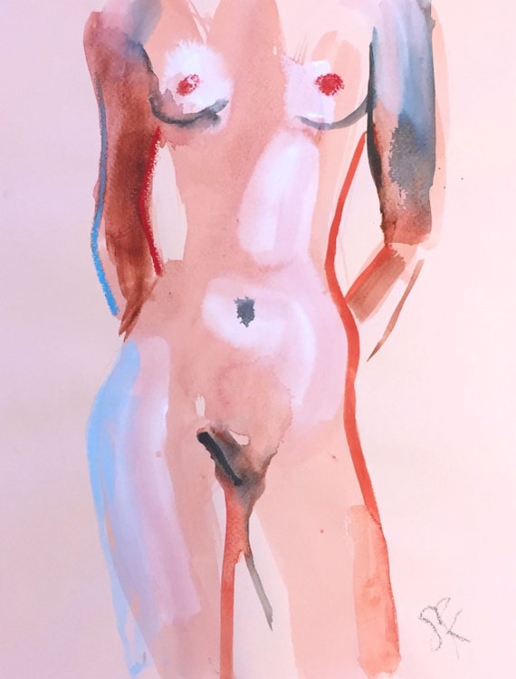 Nude painting#1383 Original painting by Gretchen Kelly