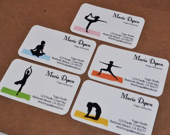 Yoga business card etsy custom yoga business cards calling cards 00112 colourmoves Image collections