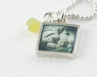 Instagram Necklace   Custom Photo Pendant   Silver Photo Necklace   Personal Gift   Gift for Teen   Instagram Pendant   Photo Jewelry