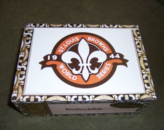 St Louis Browns Cigar Box Baseball Stadium