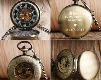 pocket watch, engraved pocket watch, personalized pocket watch, groomsmen pocket watches, personalized engraved pocket watch, mechanical