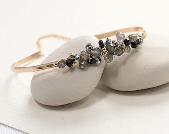 Labradorite Gemstone Bangle - Labradorite Jewelry - Labradorite Jewellery - Labradorite Bracelet - Labradorite Bangle