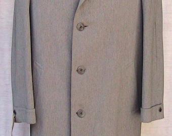 Size 44R 50s Overcoat Vintage Grey Wool