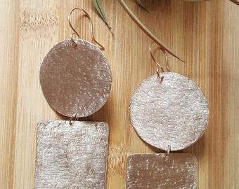 african jewelry / statement earrings /brass earrings /african earrings/ large earrings