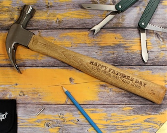 Fathers Day Personalised Draper Hammer