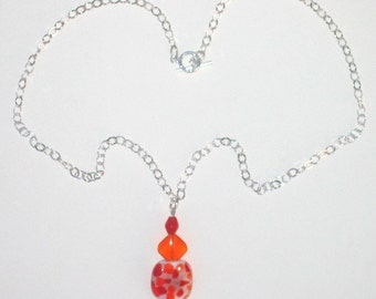 Lampworked Glass Pendant Necklace No. 1