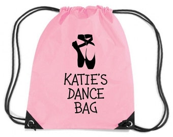 Kids Personalised Dance Bag Customised Custom Name Childrens - Add Your Child's Name