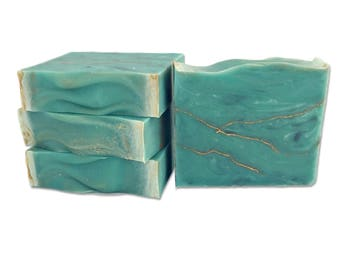 Turquoise Bar Soap - organic soap / essential oil soap / womens soap scent