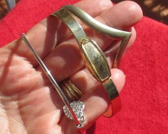 Lot Of Retro Cuff Style Metal Bracelets TLC