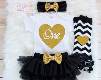 Baby Girl ONE birthday, 1st Birthday Outfit, First Birthday Outfit Girl, Cake Smash Outfit, Girl 1st Birthday Outfit, Baby Birthday Gift,B4B