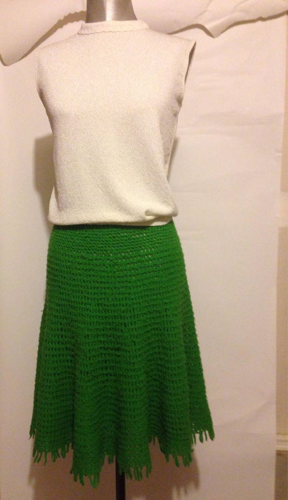 Vintage Handcrafted Crocheted Skirt