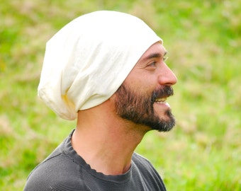 Eco  Friendly Men's Hat - Slouchy -  Unisex - Organic Cotton Hemp -  Organic Clothing