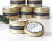 Gold Tin ANJOU (Fig Tree) Scented Soy Candle - Gift