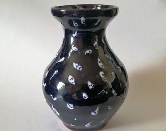 Ceramic vase, Pottery vase, Blue ornament vase, Flower vase, Unique small vase, Ceramics and Pottery, Handmade decor, Art deco, Vases
