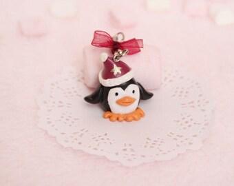 Schlüsselanhänger - Weihnachts-Pinguin