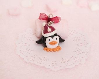Keychain - Christmas Penguin