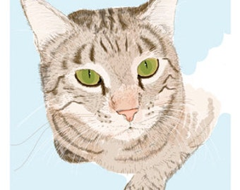 Cat Greeting Card, Blank, Henry Design No A6013