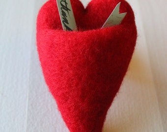 Large Red Heart Pocket