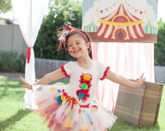 Clown Top, Circus Theme Party, Circus Shirt, Halloween Shirt, Circus Birthday Top, Clown Bloomers, Halloween Party, Circus Birthday Theme