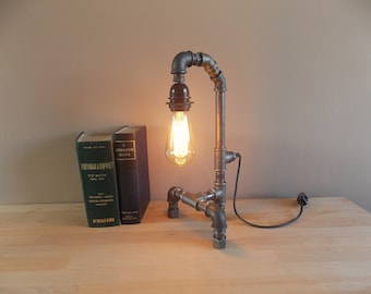 Pipe Lamp Industrial upcycled Edison bulb lamp
