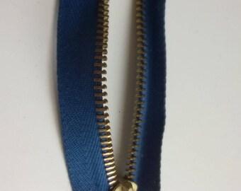 Zip detachable blue 49 cm