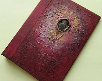 Nebula Journal Handmade Refillable red copper 7x5 Original art journal diary notebook