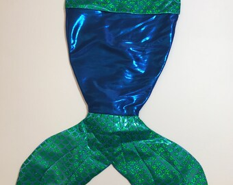 Royal Blue and Green Mermaid Scale Mermaid Tail Stocking