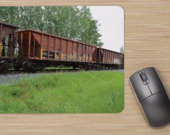 Summer Railway Car Computer Mousepad