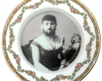 The Bearded Lady Plate 6.15""