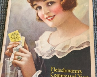 1919 Fleishmann's Yeast pamphlet and 1930 Arm and Hammer recipe book