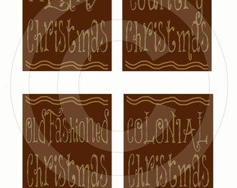 Primitive Colonial Redware Look Christmas Pantry Labels Set 1 12992 Printable Digital JPEG Instant Download Folk Art FAAP