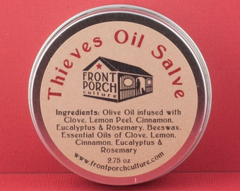 Absconders Oil Salve with Clove, Lemon Peel, Cinnamon, Eucalyptus & Rosemary