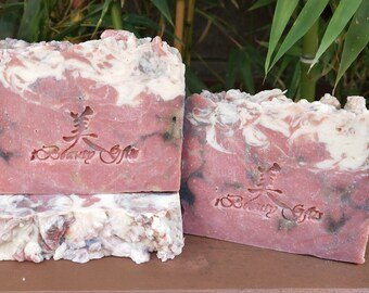 Handcrafted Hot Process Shea & Cocoa Butter Soap, Sweet Cherry Merlot