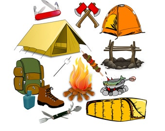 camping clip art happy camper clipart 30 hand drawn png rh etsy com clip art camping trailers clip art camping free