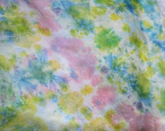 Hand Dyed Pink Abstract Silk Scarf
