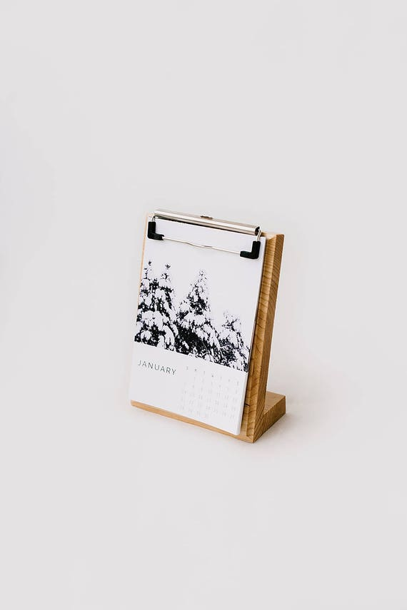 Amazing Wooden Desk Clipboard Calendar Home Design Ideas