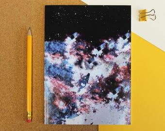A5 * PLUTO * gedruckt Notebook | Solar System Journal | Recycling Notizbuch aus Papier | Astronomie-Space-Universum wieder zur Schule | Comic-Notebook