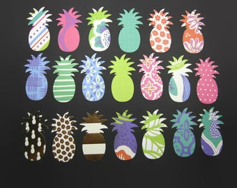 Pineapple Paper Cut Out set of 20 in Tropical Prints