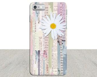 Daisy iPhone 7 plus phone case, flower Phone case, iPhone 7 case, vintage phone case, iPhone 6, iPhone 5 case, Galaxy case, art phone case