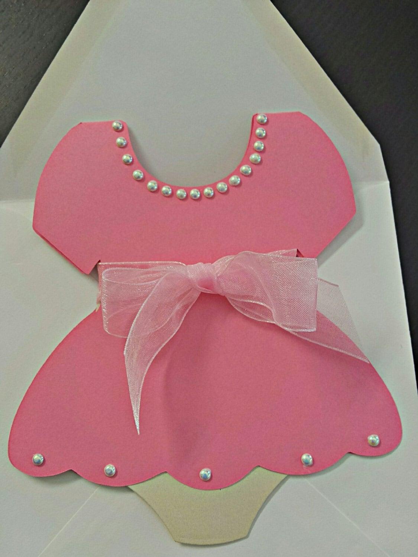 Baby Shower Invitation Dress Invitation Onesies Dress