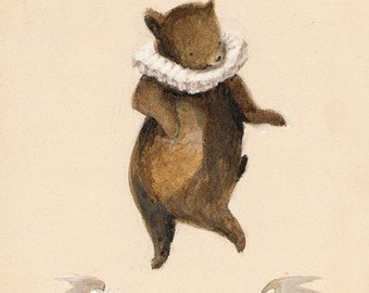 Be Good Bear Print