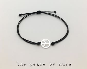 Vrede zilveren armband