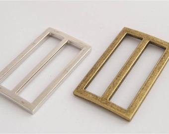 """3 Sizes Metal Strap Adjuster, Slider, Tri-glide, bag hardware, in Silver, Antique Brass, 1 1/2"""" (38mm), 1 1/4"""" (32mm), 1"""" (25mm)"""