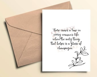 Glass of Champagne Note Cards