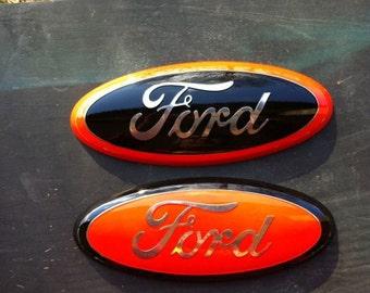 "Ford Truck f 150 Emblem, 9 inch ,HARLEY DAVIDSON, Sticks on, Ford Part ,2004-2012 all 9""x3.5"""